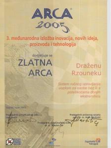 Zlato ARCA,09.2005.